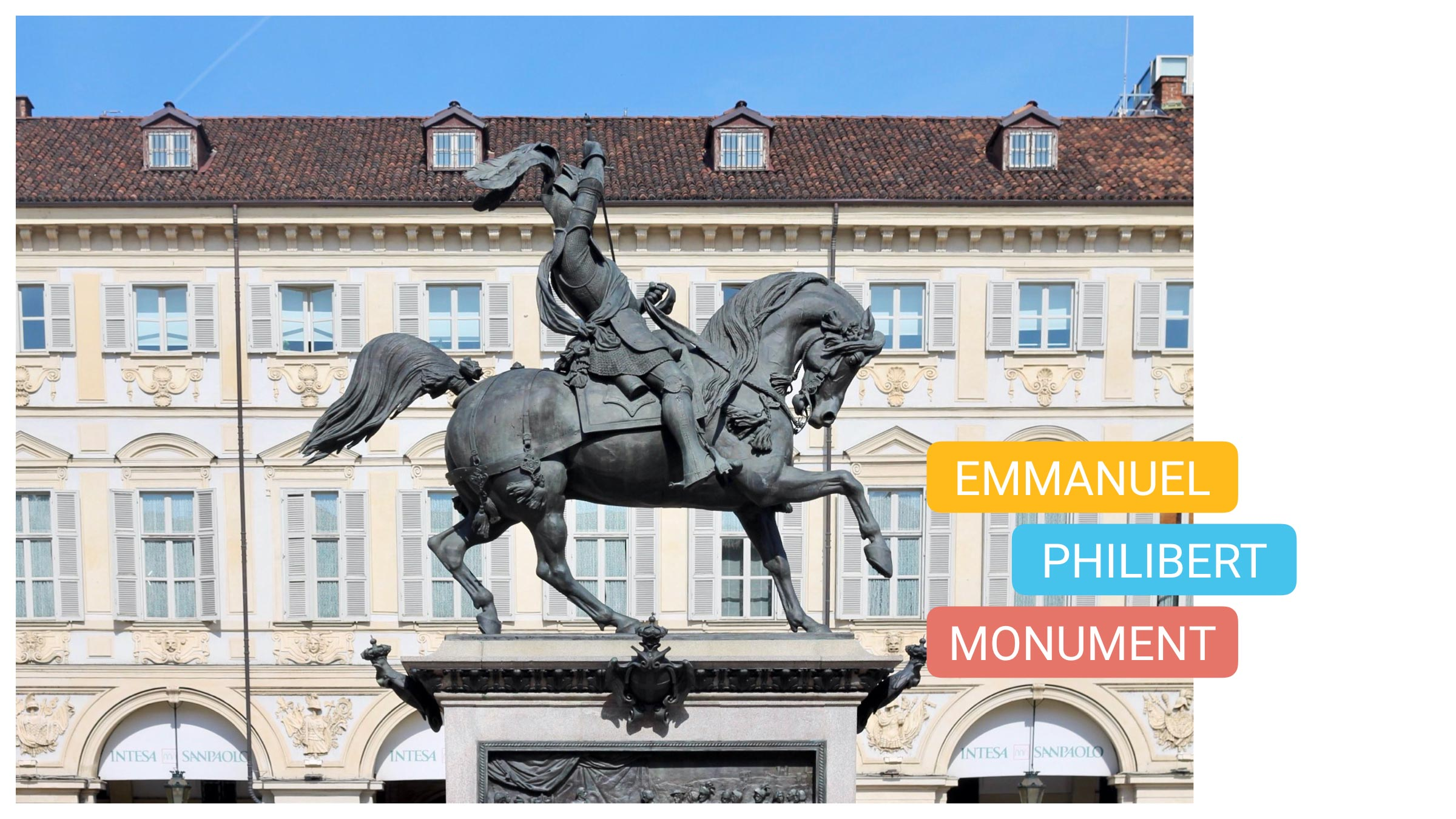 what to see torino piazza san carlo turin city center thing to do emmanuel philibert monument