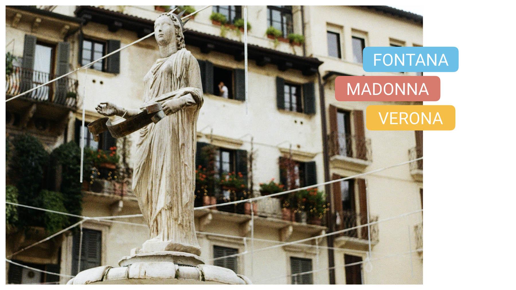 piazza erbe bike tour verona fontana madonna