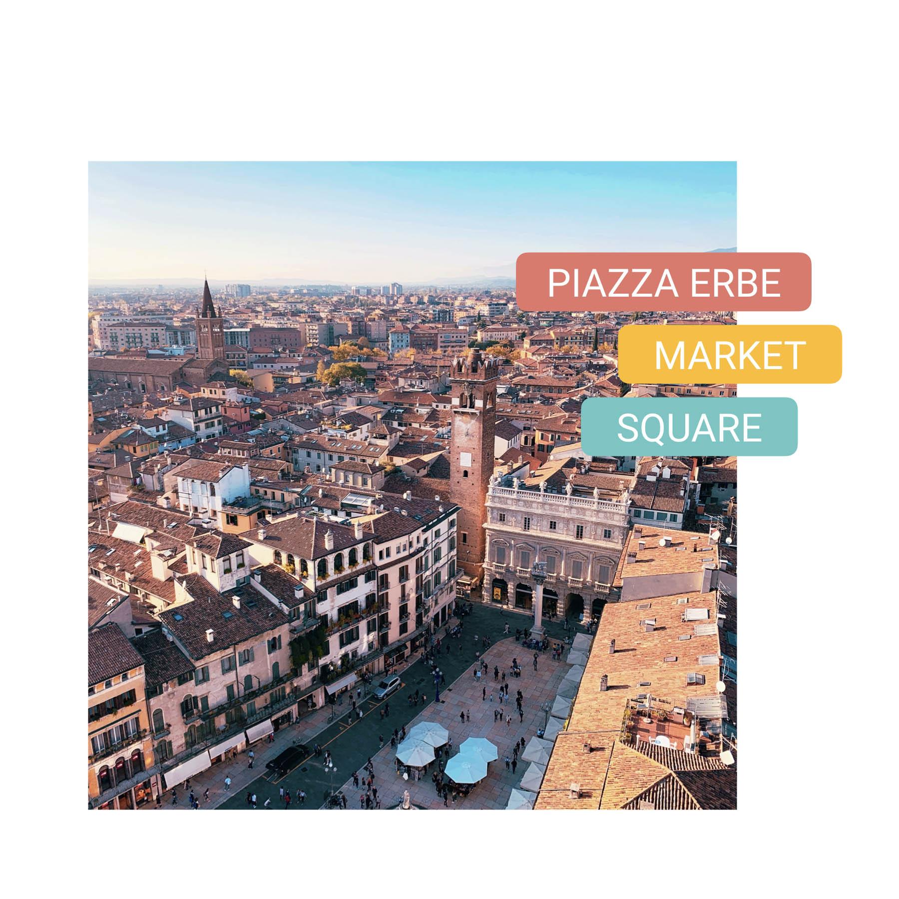 piazza erbe market square bike tour verona