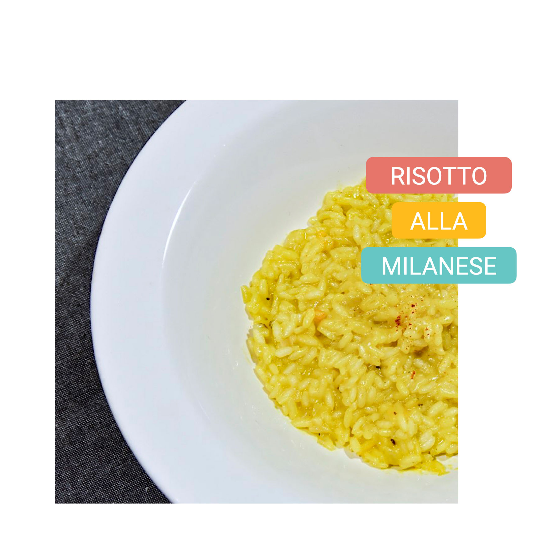 Typical food in Milan - milano bike tour - risotto alla milanese 2