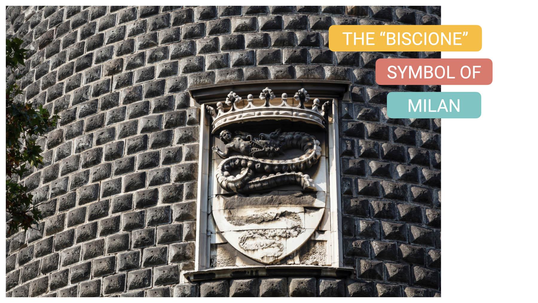 Curious Symbols of Milan biscione bike tour