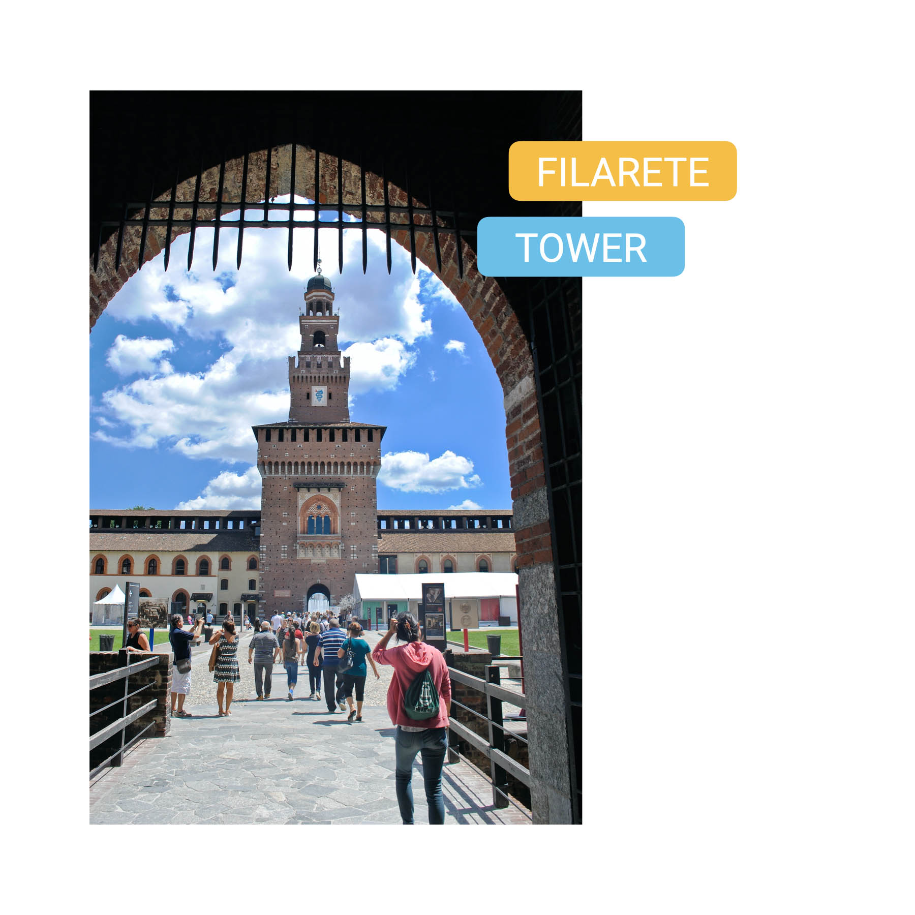 Curious Symbols of Milan filarete tower bike tour