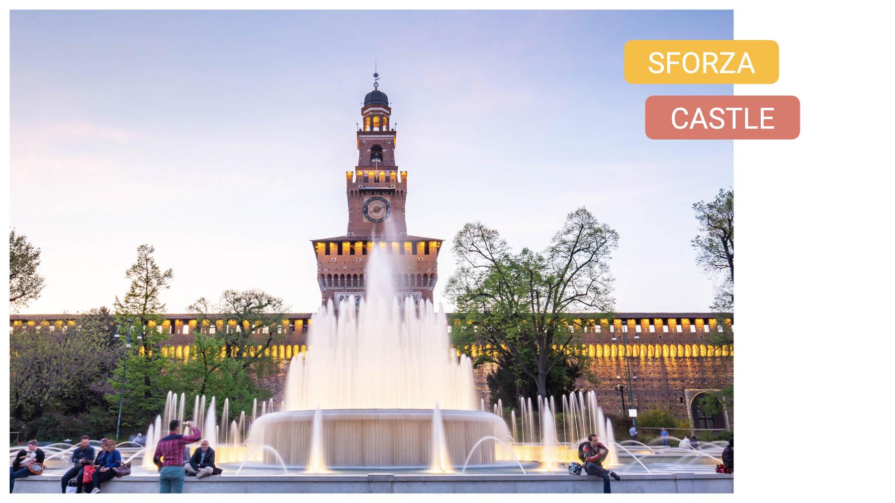 Curious Symbols of Milan sforza castle bike tour landscape