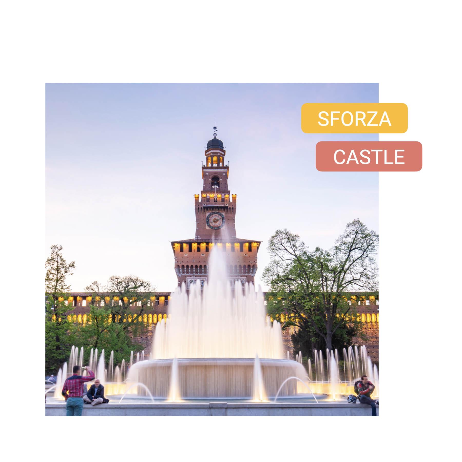 Curious Symbols of Milan sforza castle bike tour