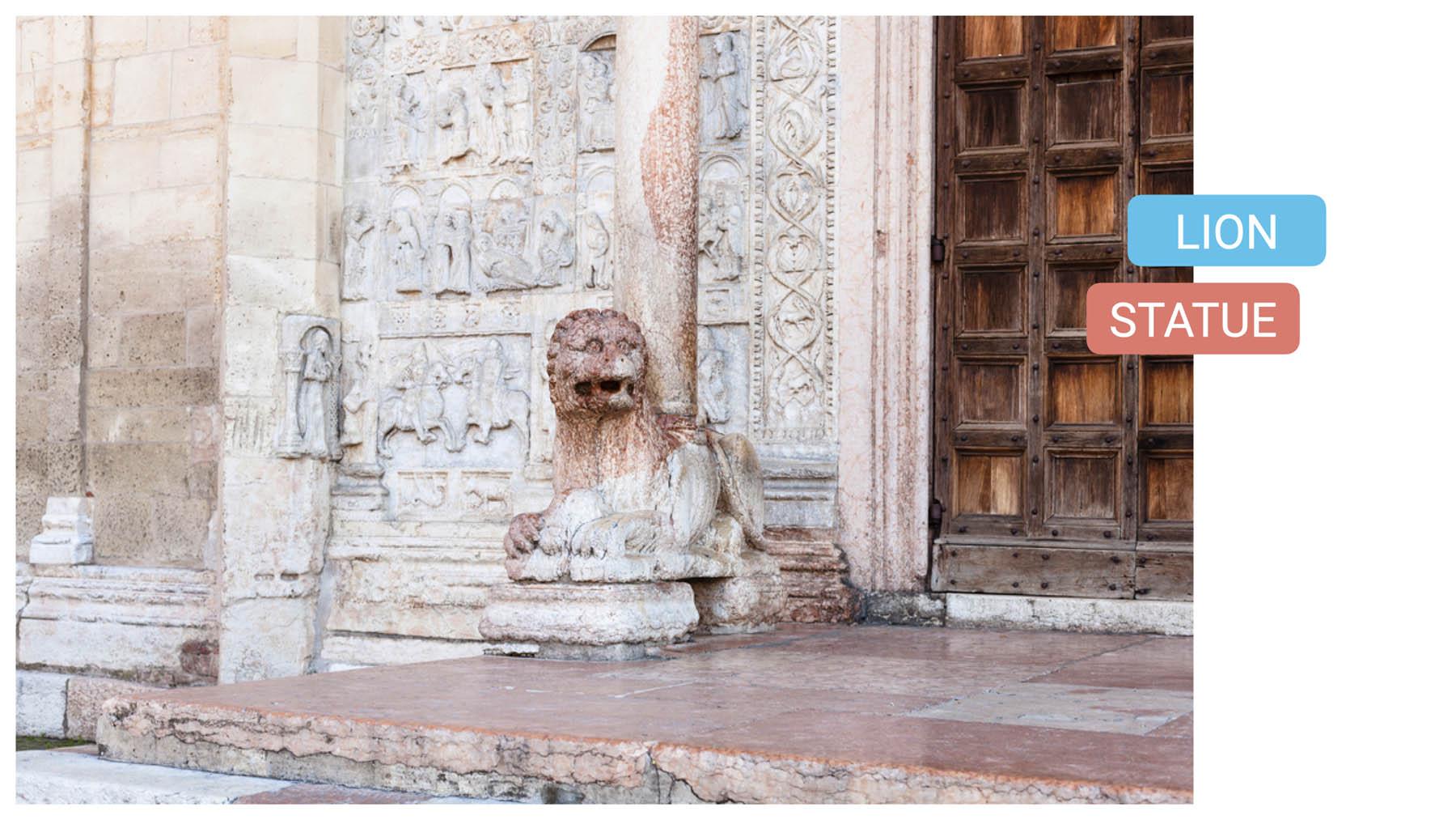 Basilica of St. Zeno lion statue verona bike tour