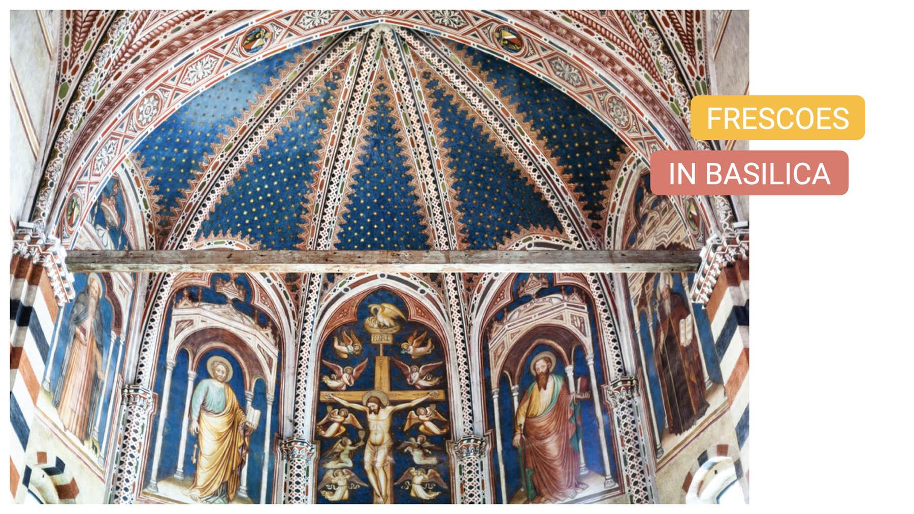 Basilica of St. Zeno verona bike tour frescoes